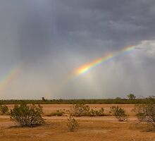 Double Rainbow near Stanfield by Cathy L. Gregg