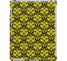 Black And Yellow Vintage Floral Damasks Pattern iPad Case/Skin