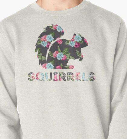 Squirrels - Floral Pullover