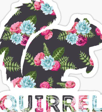Squirrels - Floral Sticker
