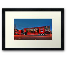 coca-cola delivery truck Framed Print