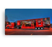 coca-cola delivery truck Canvas Print