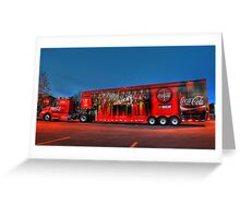 coca-cola delivery truck Greeting Card