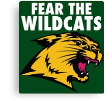 Fear the Wildcats Northern Michigan University Canvas Print