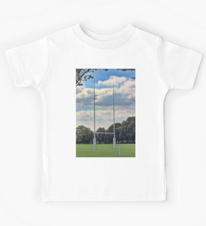 Rugby goal post at Rugby School Kids Tee
