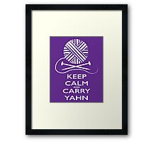 Keep Calm (light background) Framed Print