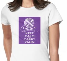 Keep Calm (light background) Womens Fitted T-Shirt