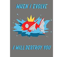 When I evolve - Magikarp Photographic Print