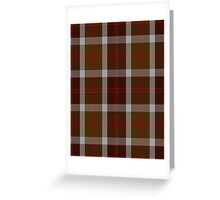 00398 Bannockbane Brown Tartan #1 Greeting Card
