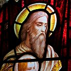 Stained glass window, St Mary Magdalene church, Adlestrop, UK by buttonpresser