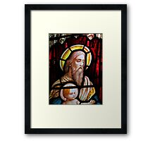 Stained glass window, St Mary Magdalene church, Adlestrop, UK Framed Print
