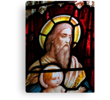 Stained glass window, St Mary Magdalene church, Adlestrop, UK Canvas Print