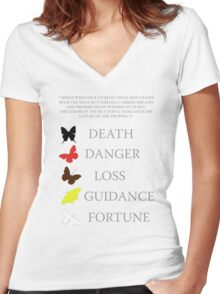 Totem/butterflies meanings - until dawn Women's Fitted V-Neck T-Shirt