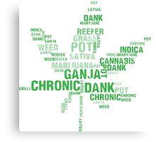 Weed Slang Canvas Print