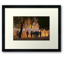 Magic of Golden Light At Sunset Time. Framed Print