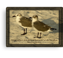 When I Am With You Canvas Print