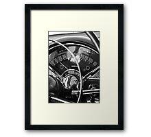 '55 Chevy Bel Air Gauges Framed Print