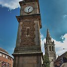 Rugby Clock tower by Avril Harris