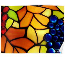 "Stained Glass Grapes - Reproduction of Tiffany ""Grape"" Pattern Poster"