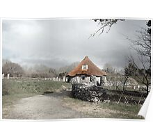 ancient rustic cottage Poster