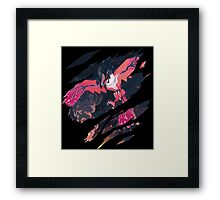 pokemon yveltal anime manga shirt Framed Print