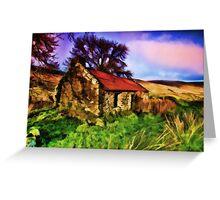Old house at Glendun Glen, Co. Antrim N. Ireland Greeting Card