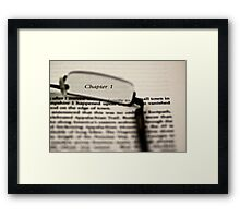 Name the Book (Solved) Framed Print