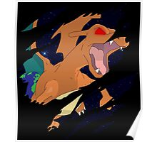 pokemon charizard angry seismic anime manga shirt Poster