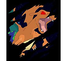 pokemon charizard angry seismic anime manga shirt Photographic Print