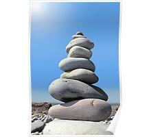 balanced stones Poster