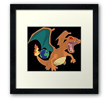 pokemon angry charizard anime manga shirt Framed Print