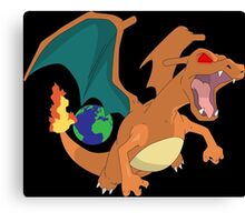 pokemon angry charizard anime manga shirt Canvas Print