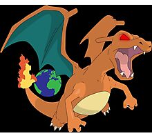 pokemon angry charizard anime manga shirt Photographic Print