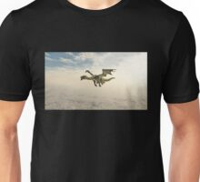 Green Dragon Flying through the Clouds Unisex T-Shirt