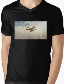 Green Dragon Flying through the Clouds Mens V-Neck T-Shirt