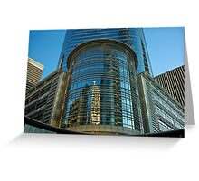 Buildings in downtown Houston, TX USA Greeting Card
