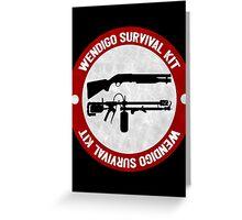 Wendigo Survival Kit - Until Dawn Greeting Card