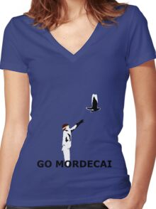 GO MORDECAI  Women's Fitted V-Neck T-Shirt
