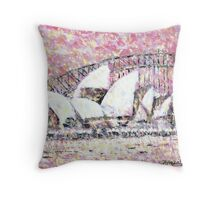 Sydney Bridge and Opera House Throw Pillow