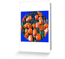 Orange Tulips - Keukenhof Gardens, Holland Greeting Card