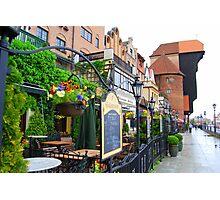 Gdańsk - Rain Splash Of Colors Photographic Print