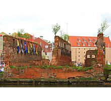 Gdańsk Ruins - Colorful Flags Photographic Print
