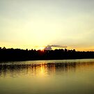 Lakeside Sunset by Sharon Woerner