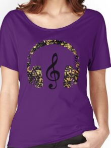 Floral Music Women's Relaxed Fit T-Shirt