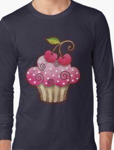 Cherry Berry Cupcake Long Sleeve T-Shirt