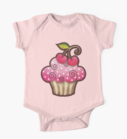 Cherry Berry Cupcake One Piece - Short Sleeve
