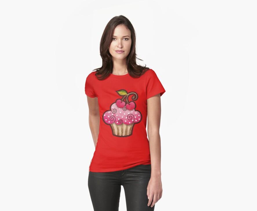 Cherry Berry Cupcake by sandygrafik