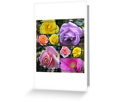 Just Roses Collage Greeting Card