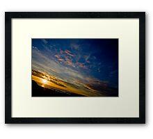 Beautiful Birthday Sunset Framed Print