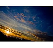 Beautiful Birthday Sunset Photographic Print